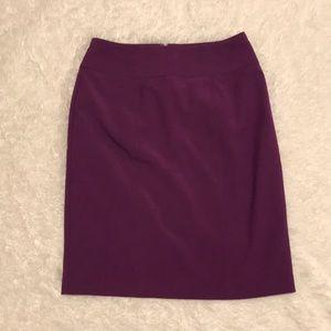 Purple Worthington Pencil Skirt